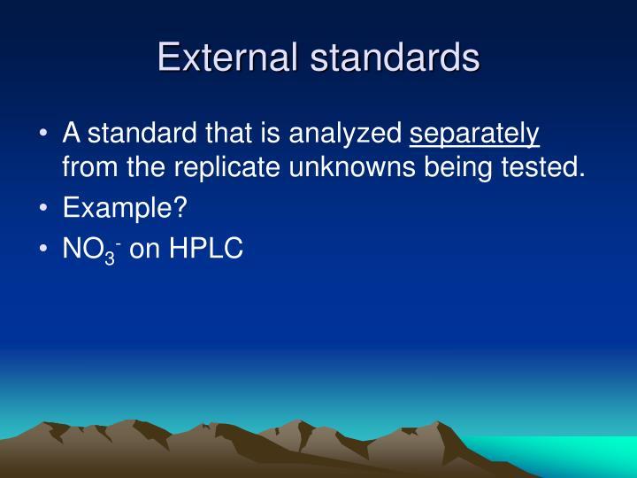 External standards