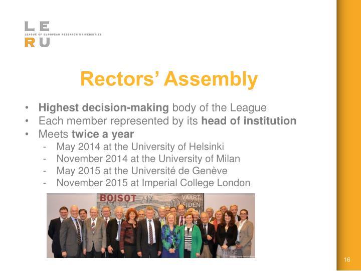 Rectors' Assembly