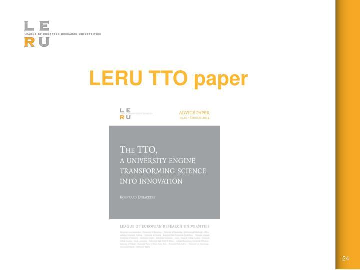 LERU TTO paper