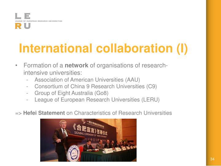International collaboration (I)