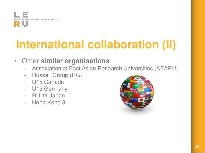 International collaboration (II)
