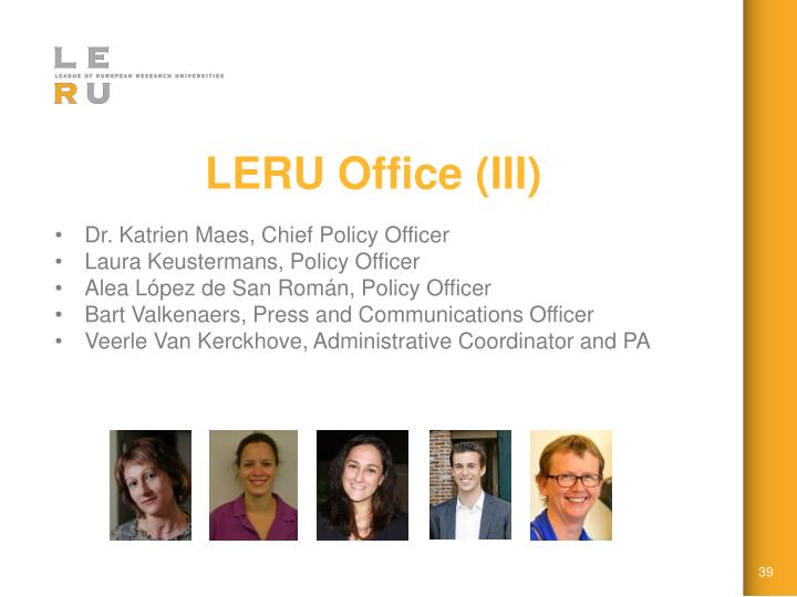 LERU Office (III)