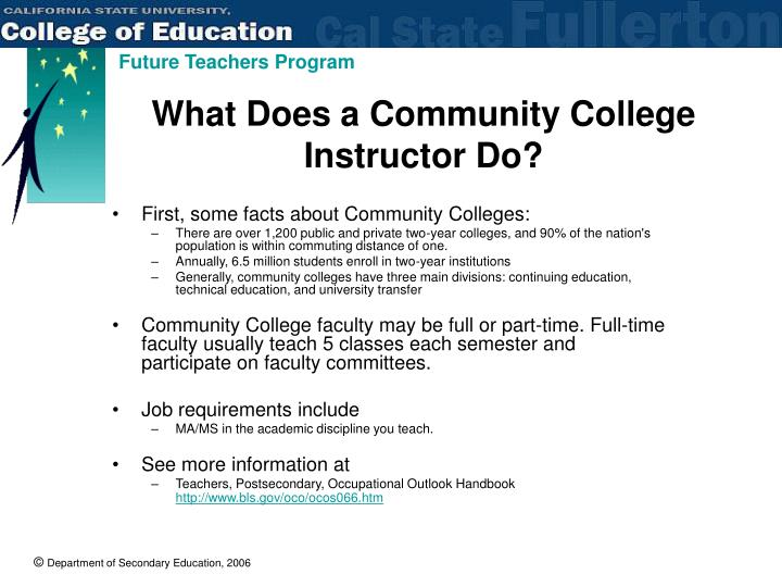 What Does a Community College Instructor Do?