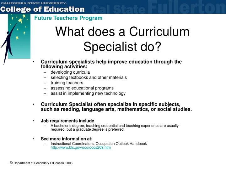 What does a Curriculum Specialist do?