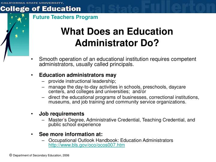 What Does an Education