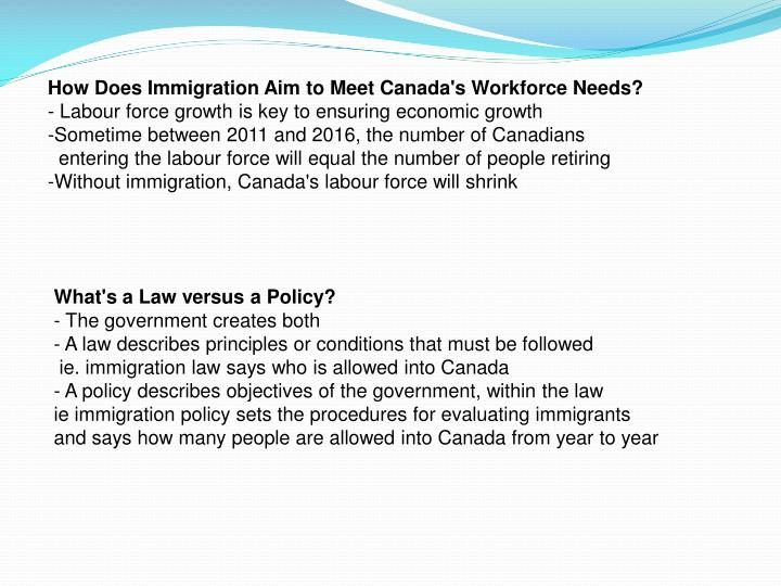 How Does Immigration Aim to Meet Canada's Workforce Needs?