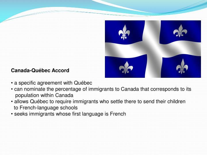 Canada-Québec Accord