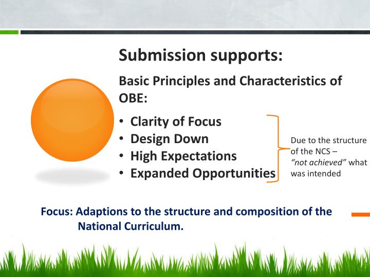Submission supports: