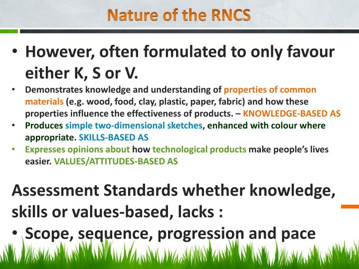 Nature of the RNCS