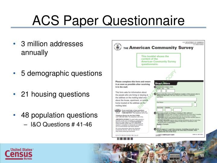 ACS Paper Questionnaire