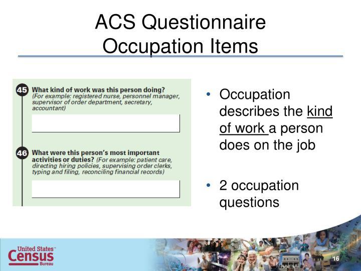 ACS Questionnaire