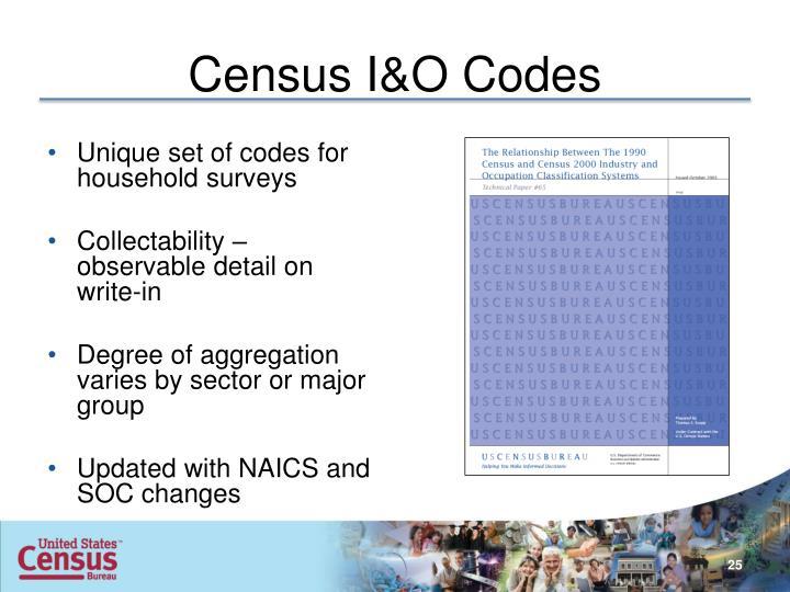 Census I&O Codes