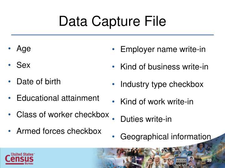 Data Capture File