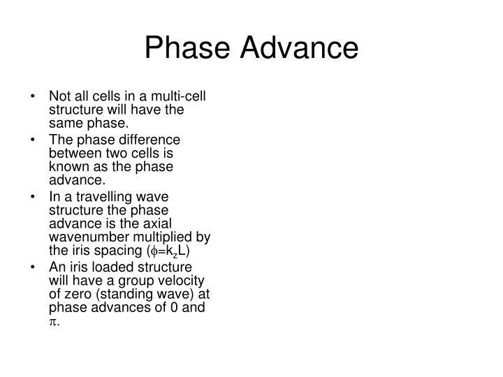 Phase Advance