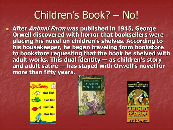 Children's Book? – No!