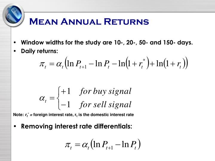 Mean Annual Returns