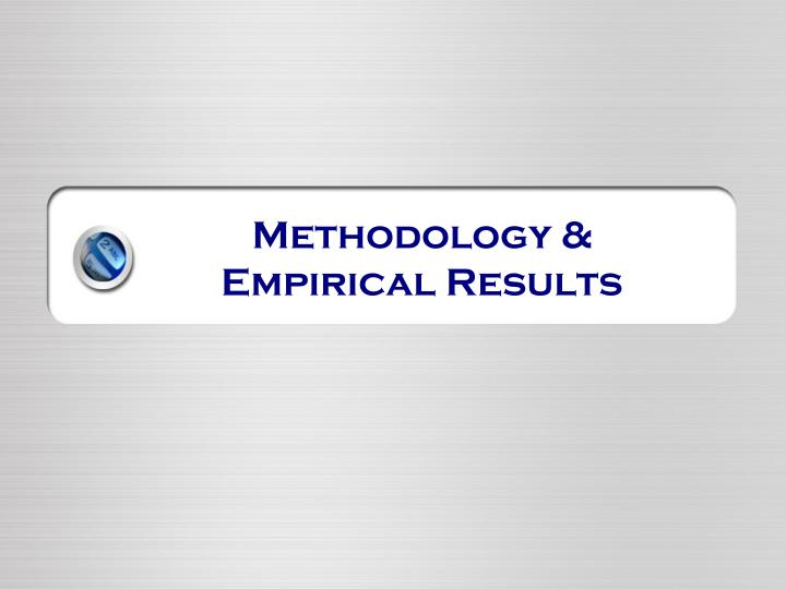 Methodology &
