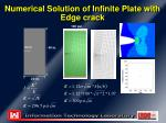 numerical solution of infinite plate with edge crack1