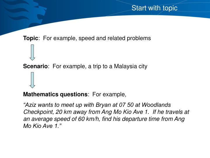 Start with topic