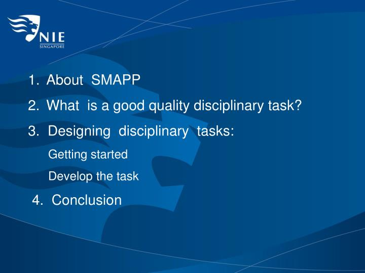 About  SMAPP