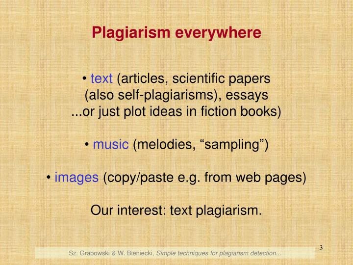 Plagiarism everywhere