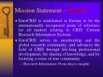 mission statement draft
