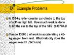 ix example problems