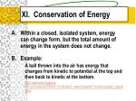 xi conservation of energy
