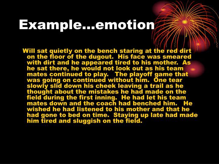 Example…emotion