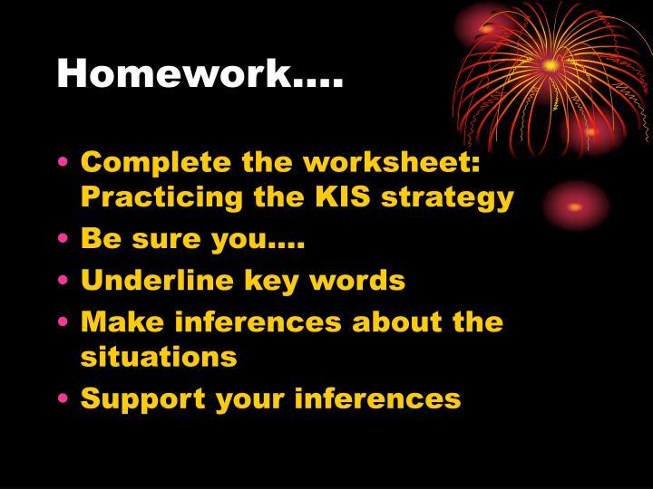 Homework….