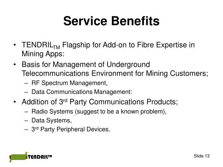 Service Benefits