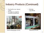 industry products continued