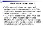 what are tex and latex2