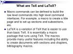 what are tex and latex3
