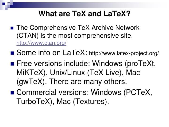 What are TeX and LaTeX?