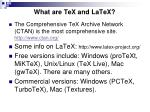 what are tex and latex6