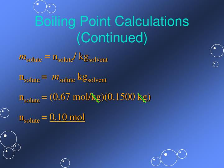 Boiling Point Calculations