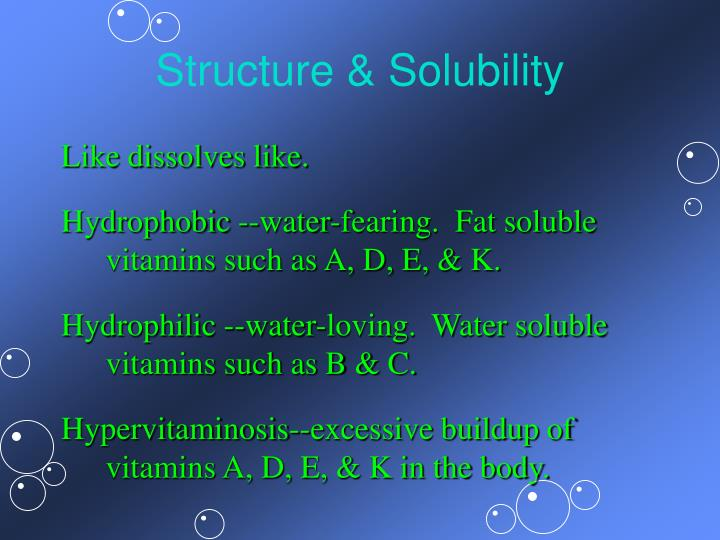 Structure & Solubility