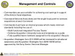 management and controls