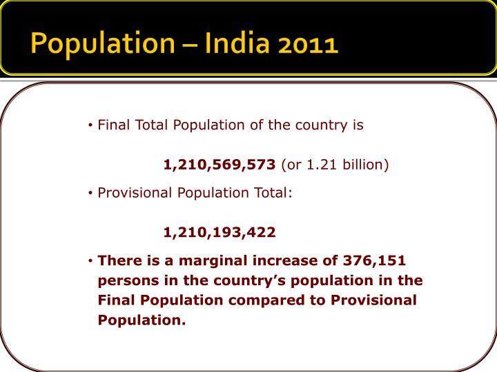 Population – India 2011