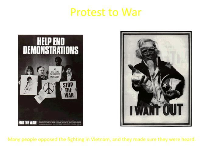 Protest to war