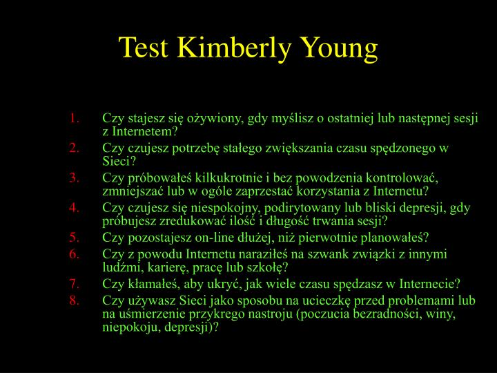 Test Kimberly Young