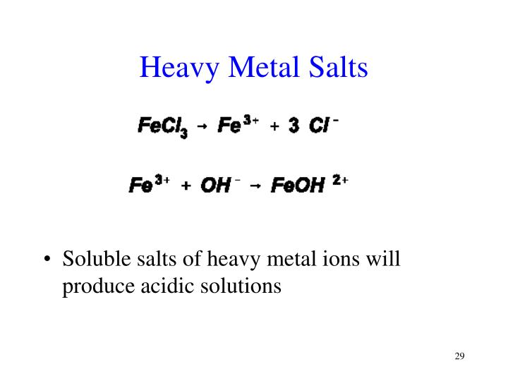 Heavy Metal Salts