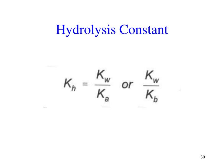 Hydrolysis Constant