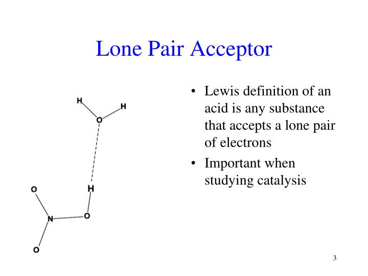 Lone Pair Acceptor