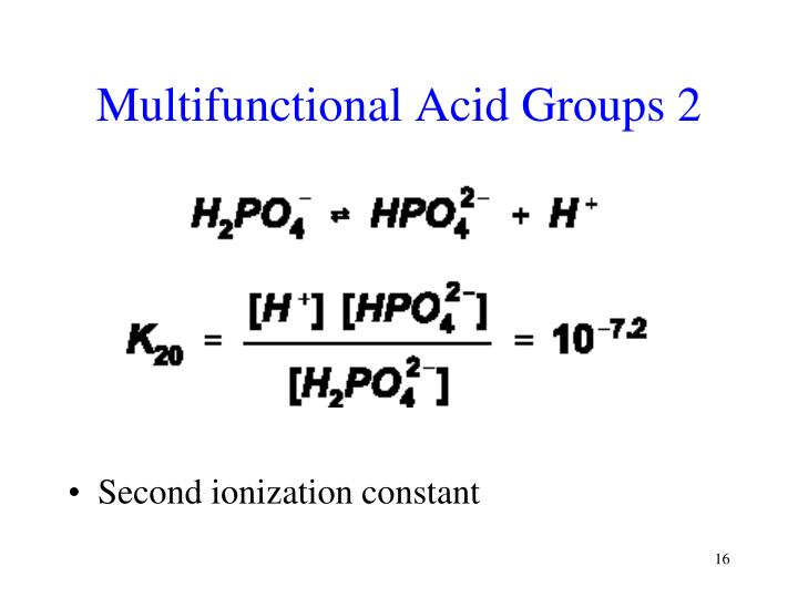Multifunctional Acid Groups 2