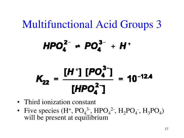 Multifunctional Acid Groups 3