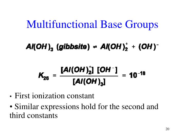 Multifunctional Base Groups