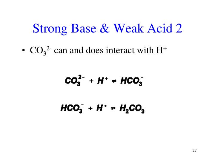 Strong Base & Weak Acid 2