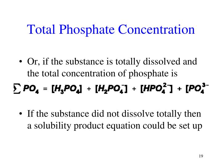 Total Phosphate Concentration